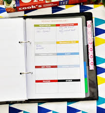 Recreation . Organised] Free Printables On Meal Planning & Grocery ...