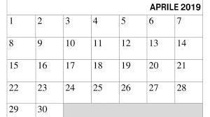 Calendario Aprile 2019 Da Stampare