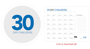30 Day Challenge Checkli