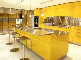 Yellow Kitchen Backsplash Kitchen Nice Yellow Mexican Kitchen With Hardwood Cabinets Also