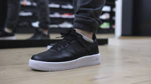 onfeet nike air force 1 ultra force black white 845052 001 sneakers by