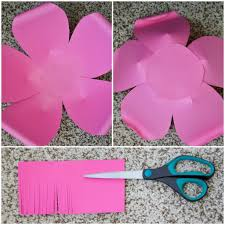 Cartolina Paper Design How To Make Large Paper Flowers