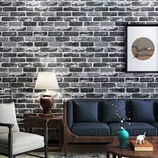 Akea Gray Brick Wallpaper Roll, 3D ...