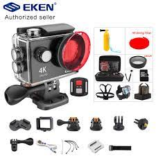 EKEN H9 H9R eylem kamera 4K/30FPS 1080p/60fps 720P/120FPS Ultra HD sualtı  su geçirmez Mini Wifi Video spor kameralar|Sports & Action Video Camera