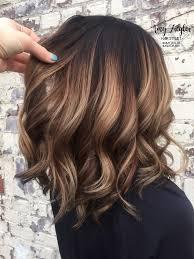 description chunky blonde balayage on dark hair