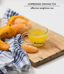 health diy orange tea for weight loss