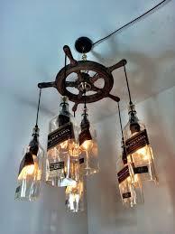 14 best bottle driftwood lights images on glass art whiskey bottle chandelier