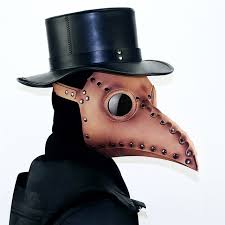 new type the pe doctor bird mask brwon steampunk mask gothic pu leather mask cosplay