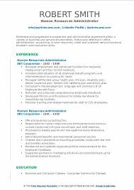 Human Resources Administrator Resume Samples Qwikresume