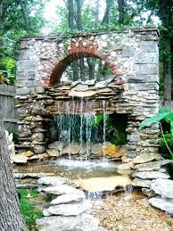 large outdoor water fountains with stoned wall art and woodland nuance from the fountain big an in las vegas fount