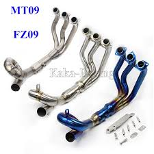 MT09 Titanium alloy <b>Full System Motorcycle Exhaust</b> Modified ...