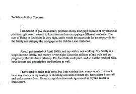 Financial Hardship Letter For Medical Bills Economic Sample Mortgage