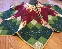 Poinsettia Star Tree Skirt Pattern Traditional Tree Skirt ... & Poinsettia Star Tree Skirt Pattern Traditional Tree Skirt Adamdwight.com