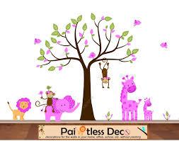 baby girl jungle animals friends wall decal sticker s7g