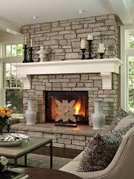 contemporary stone fireplace designs custom built