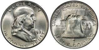 1959 Franklin Half Dollar Value Chart