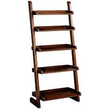 Wooden Ladder Shelving Units For Your Inspirations : Luxurious Wood  Magazine Organizer And Ladder Bookshelf Design