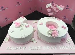 60th Birthday Number Butterfly Flowers Cake And Bake