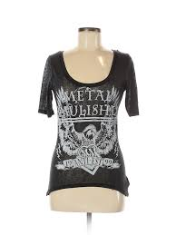 Details About Metal Mulisha Women Black Short Sleeve T Shirt M