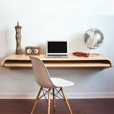 design office table. Charming Wall Mount Office Desk For Your Design: Interesting Natural Wood Design Table