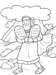 48 Moses And The 10 Commandments Bible Coloring Pages Coloring