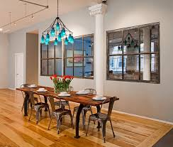 industrial style dining room lighting. View In Gallery Industrial Style Dining Room With A Colorful Chandelier Lighting O