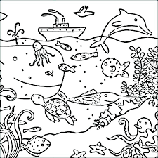 Coloring Pages Ocean Creatures Sea Creatures Coloring Page Sea