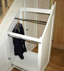 diy under stairs sliding storage photos freezer and stair iyashix