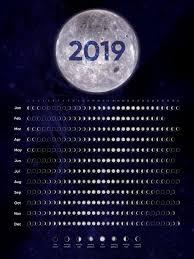 Moon Chart Calendar 2019 2019 Moon Phase Calendar When Is The Next Full Moon Moon