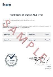 German A1 Certificate Lingoda