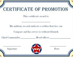Promotion Certificate Template Army Enlisted Promotion Certificate Template Promotion Certificate
