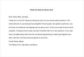 Thank You Letter After Offer Delectable 48 Thank You Note For Dinner Free Sample Example Format Download