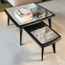 contemporary coffee table wooden glass marble 9500 080 082 084 086 088 by gianluigi landoni