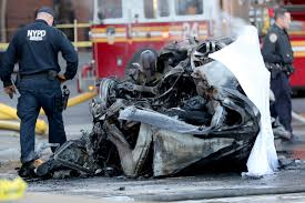 Fiery car crash turned deadly in Tribeca