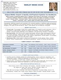 Resume Samples Consultant Healthcare