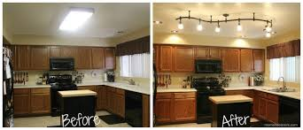 Kitchen Design:Awesome Modern Fluorescent Kitchen Light Fixtures Mini  Kitchen Remodel New Lighting Makes A