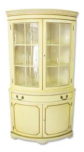 French Country Cabinet French Country Corner Cabinet With Curved Glass Front Olde Good