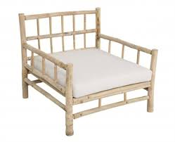 Decorating Bamboo Chair With White Lowes Patio Cushions For