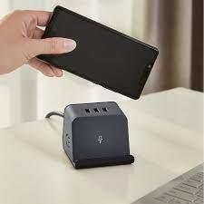 Ổ Cắm Sạc Không Dây 3 Cổng USB Có Giá Đỡ Điện Thoại Xiaomi Aigo (5W)