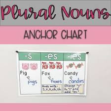 Singular And Plural Nouns Chart Singular And Plural Nouns Lessons Tes Teach
