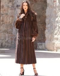 elaine classic full length mink coat