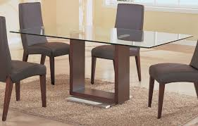 Glass Dining Table With Wood Base Great As Round Dining Table And Glass Top  Dining Tables