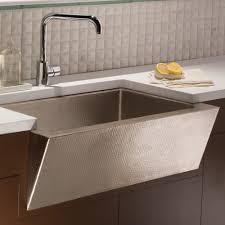 33 zuma brushed nickel a front farmhouse kitchen sink