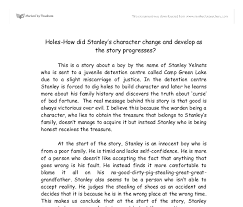 holes how did stanley s character change and develop as the  document image preview