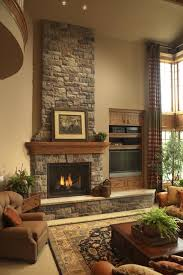 Rustic Stone Fireplace rustic-family-room