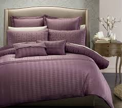 Comfortable Tasteful Bedroom Decoration With Purple Bed Cover