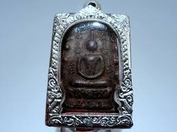thai amulet magic lp boon buddha black necklace rare