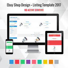 Listing Template Ebay Shop Template Store Theme Design Mobile Friendly Https Secure
