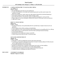 managing editor resume tv editor resume samples velvet jobs