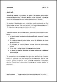 How To Write A Dissertations Writing Dissertations Abstract